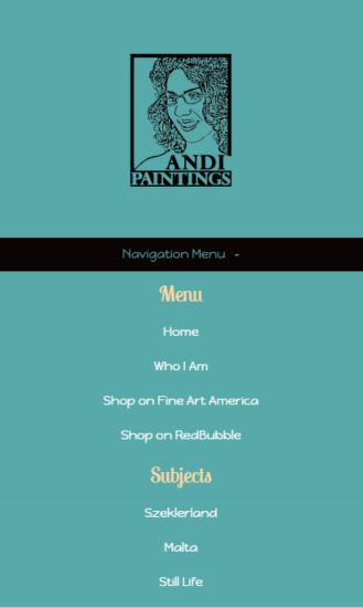AndiPainting.com Mobile Layout