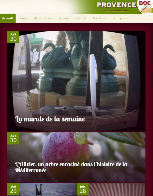ProvenceDOC.com Tablet Layout
